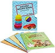 Amazon Brand - Solimo Long Board Book, Set of 5 (Animals, Birds, Vehicles, General Knowledge, Nursery Rhymes)