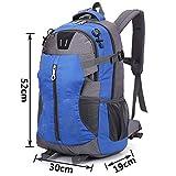wocharm TM 40L Molle 3D Assault Tactical Outdoor Military Rucksacks Backpack Camping Bag UK Post (40L Blue 1#)