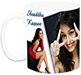 EFW CERAMIC 'BOLLYWOOD ACTRESS - shraddha kapoor (Design 1) WHITE' Coffee Mug