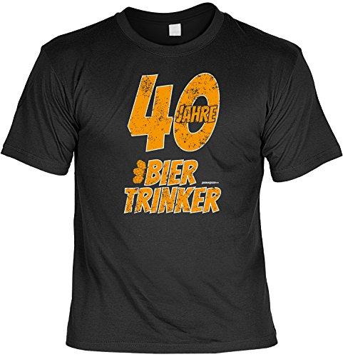 Zum 40. Geburtstag - 40 Jahre Biertrinker - T-Shirt - Perfekt als Geschenk zum 40ger! Schwarz