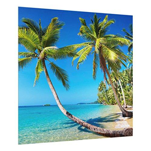 Bilderwelten Spritzschutz Glas - Beach of Thailand - Quadrat 1:1, HxB: 59cm x 60cm