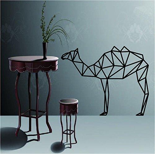 Vovotrade® Décoration de Salle de Bricolage Créatif Géométrie Amovible Papier Peint de Chameau Stickers Muraux (Noir)