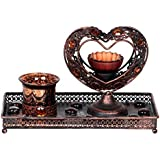 Imperial Gifts Glass Tealight Candle Holder (15 Cm X 23 Cm X 11 Cm, Brown, IGRS 78)