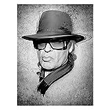 Bilderwelten Leinwandbild - Udo Lindenberg - Strassenkoeter - Viva Con Agua - Hoch 4:3 Leinwand Leinwandbild XXL Leinwanddruck Wandbild, Größe HxB: 80cm x 60cm