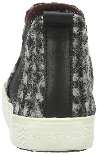 Marc O'Polo Sneaker, Baskets Basses Femme Multicolore - Mehrfarbig (Black/White 569)