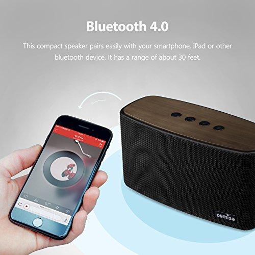 haut parleur bluetooth st r o 30w comiso nature audio boomer bois maison enceinte avec. Black Bedroom Furniture Sets. Home Design Ideas