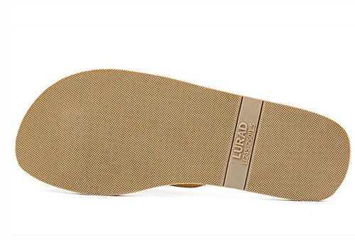 ALUK- Sandales d'été - Décontracté Antidérapant Hommes confortables Chaussons résistant à l'usure Chaussures de plage ( Couleur : Light Brown , taille : 44 ) Light Brown