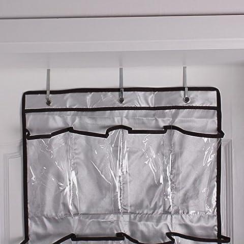 vybio £ ¨ TM £ © 22bolsillos transparente para colgar armario 6capas plegable para colgar de la puerta zapatos bolsa de almacenamiento multiusos para colgar bolsa