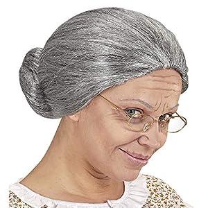 WIDMANN?Peluca nonnina de caja para adultos, Gris, talla única, vd-wdm02087