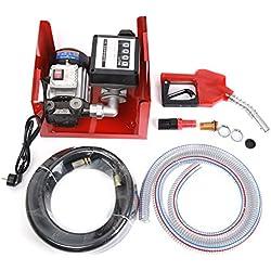 WeFun Pompe à Fuel,Pompe à Diesel kit Pompe gasoil 550W 60l/Min
