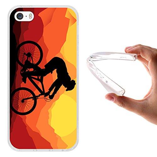 iPhone SE iPhone 5 5S Hülle, WoowCase® [Hybrid] Handyhülle PC + Silikon für [ iPhone SE iPhone 5 5S ] Husky-Hunde Sammlung Tier Designs Handytasche Handy Cover Case Schutzhülle - Transparent Housse Gel iPhone SE iPhone 5 5S Transparent D0563