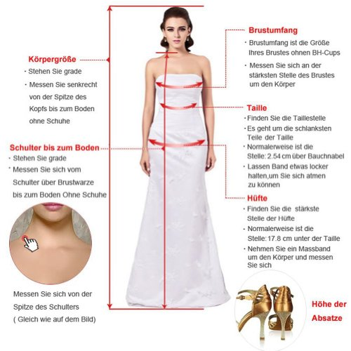 CoutureBridal -  Gonna  - linea ad a - Donna Rot