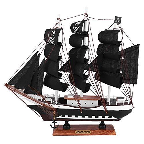 Segelboot Segelboot Piratenschiff Modell Craft Coastal Themen Ornament Vintage nautische handgefertigt für Kind Geschenk Party Home Decoration