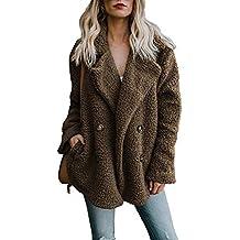 Abrigos de otoño Invierno Jersey Chaqueta cálido Top Coat Casual de Las Mujeres de Invierno Outwear