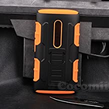 Motorola Moto X Play / Droid MAXX 2 Funda, Cocomii Robot Armor NEW [Heavy Duty] Premium Belt Clip Holster Kickstand Shockproof Hard Bumper Shell [Military Defender] Full Body Dual Layer Rugged Cover Case Carcasa (Orange)