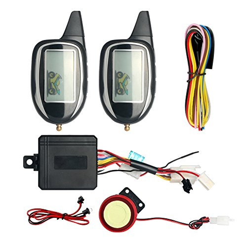 Quality SPY 5000M LCD display 2 way motorcycle alarm system