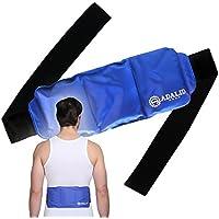 Gel-Kompresse für Rücken zur Kälte- oder Wärmeanwendung: Schmerzlinderung in großen Körperbereichen (Oberkörper, Schulter, Lendenbereich, usw.)  Universell, flexibel, mikrowellengeeignet & wiederverwendbar
