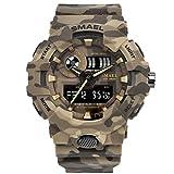 Smael Camouflage Military Armbanduhr Sport Uhren LED Digital Uhr Dual Time Armbanduhr Herren Armee Armbanduhr