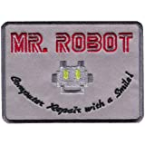 Mr Robot Computer Repair With a Smile Cosplay Costume Embroidered Patch Iron On Parche Bordado Termoadhesivo Hecho y Vendido Por Titan One Europe