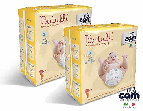 CAM Pannolini Batuffi mod. Immagina taglia 3 MIDI 4-9 kg 40 pannolini V426