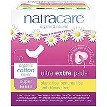 Pads Natracare Ultra Súper extra con las alas - (paquete ...