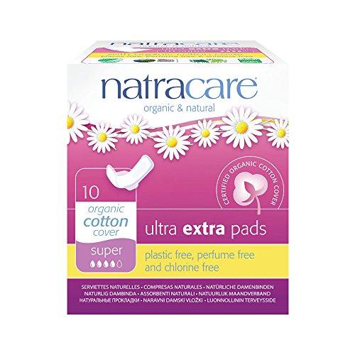 Natracare Ultra extra Pads Super mit Flügeln-(Pack von 6 x 10) -