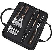 Set Utensili per Barbecue, ccbetter BBQ Attrezzi in acciaio INOX, includere valigetta, 3 pezzi, 1 anno di garanzia - Spatola Tong