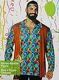 Kaufland Warenhandel GmbH & Co. KG Hippie Kostüm für Herren, Hemd und Stirnband, 70-er Jahre Kostüm, Größe L