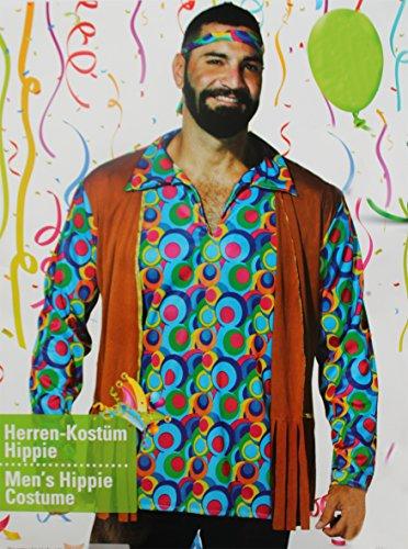 Kaufland Warenhandel GmbH & Co. KG Hippie Kostüm für Herren, Hemd und Stirnband, 70-er Jahre Kostüm, Größe M