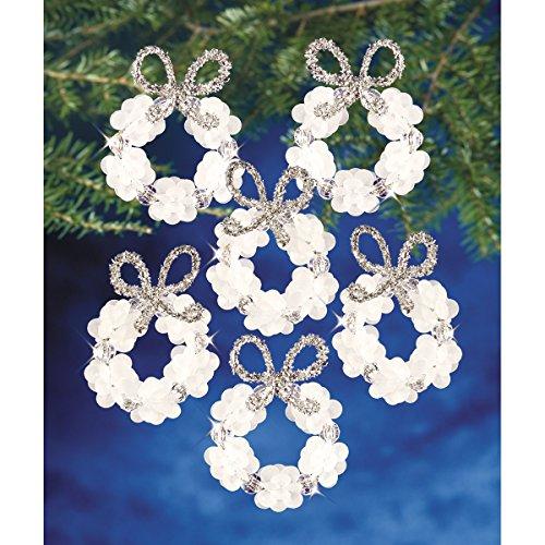 Beadery Kunststoff Holiday Perlen Ornament Kit Frosted Kranz 5,7cm Macht 16