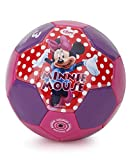 Disney Minnie Soccer Ball packed in PolyBag for Children of age 3 years onwards | Imported Premium Quality | Certified Safe as per European Safety Standards (EN71) | Sports development toys for Kids | Multi Color | Size 3