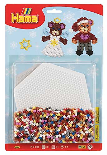Hama Beads Large Christmas Blister Pack Teddy