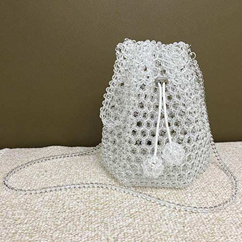 Kristall-perlen-geldbörse (ZTDXCL Damen Clutch Handtasche Perle Farbe Dinner-Tasche Party Bankett Braut Kleid Tanzparty Abendtasche - Kristall Groß)