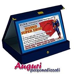 Idea Regalo - Targa premio nonno supereroe