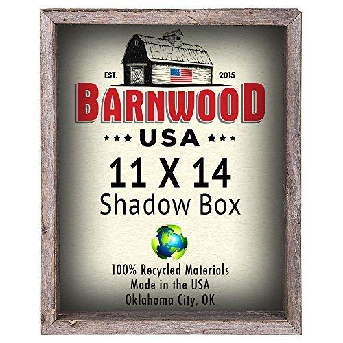 barnwoodusa   Farmhouse Rustikal Shadow Box–100% Garderobenleiste aus wiedergewonnenem Holz