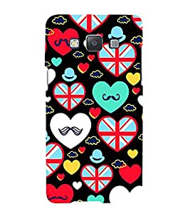 PrintVisa Designer Back Case Cover for Samsung Galaxy A5 (2015) :: Samsung Galaxy A5 Duos (2015) :: Samsung Galaxy A5 A500F A500Fu A500M A500Y A500Yz A500F1/A500K/A500S A500Fq A500F/Ds A500G/Ds A500H/Ds A500M/Ds A5000 (love heart valentinesday shapes lover)