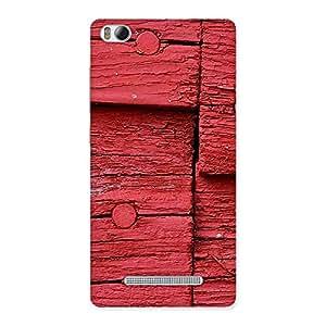 Impressive Red Kil Wood Back Case Cover for Xiaomi Mi4i