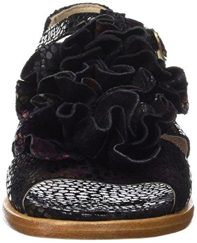Neosens S943 Fantasy Floral Black Aurora, Sandali T-Strap Donna Nero (Floral Black)