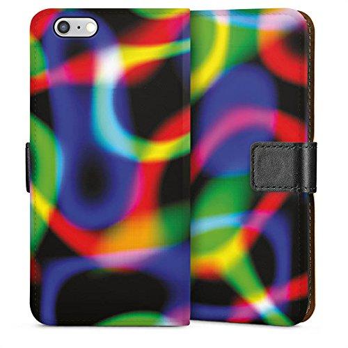 Apple iPhone 4 Housse Étui Silicone Coque Protection Laser Lumière couleurs Sideflip Sac