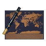 Vivaloo XXL Rubbel Weltkarte - Zum Freirubbeln Aller Länder, Die Perfekte Erinnerung an Jede Deiner Reisen