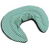 Nackenhörnchen mit Stehkragen grün-weiß | Dinkelkissen | Nackenkissen Wärmekissen - Ein sehr wohliger Nackenwärmer
