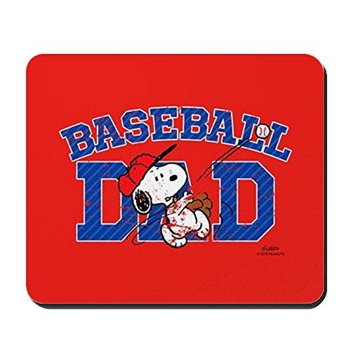 CafePress - Snoopy - Baseball Dad Full Bleed - Anti-Rutsch-Mauspad aus Gummi