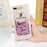 leihao888 Cas de téléphone Liquide de Paillettes pour iPhone X XS Max XR 8 7 6S 6 Plus 5 5S Se Cas Mignon Mode Brillant à Motifs Soft Hard Cover pour iPhone XS Rose