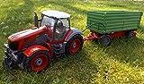Brigamo 1235 - Ferngesteuerter Traktor mit Anhänger, 65 cm Länge, Radlader RC Trecker inkl....