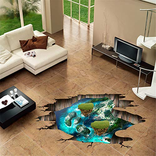 3d diy home wandaufkleber gebrochen wand boden sternen strand insel wandtattoo home wohnzimmer korridor art deco wandaufkleber e3 26,6x40 cm