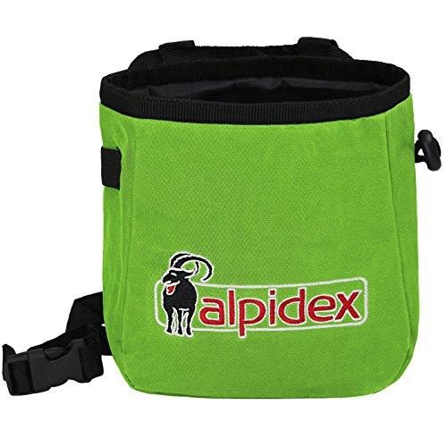 ALPIDEX Chalkbag Chalk to ME Inklusive Hüftgurt, Farbe:Green Flash
