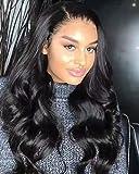 Maxine Cabello humano Lace Front Peluca de pelo pelucas en estado natural Virgin brasileño cuerpo Wave 130% denisity 14'-26' en stock Natural