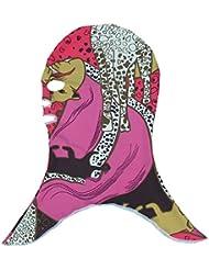 Moolecole Gorra De Natación Sol Natación Máscara De Protección Sombrero De La Nadada Anti-Insecto Máscara De Buceo Con Escafandra Morder Casquillo De Buceo Rojo/Púrpura