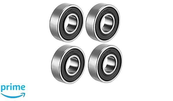 2RS 180101 12/mm x 28/mm x 8/mm Carbon Stahl Kugellager 10/St/ück Sourcingmap 6001RS Rillenkugellager doppelt versiegelt 6001