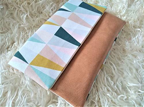 U Heft Tasche aus Stoff und Kunstleder